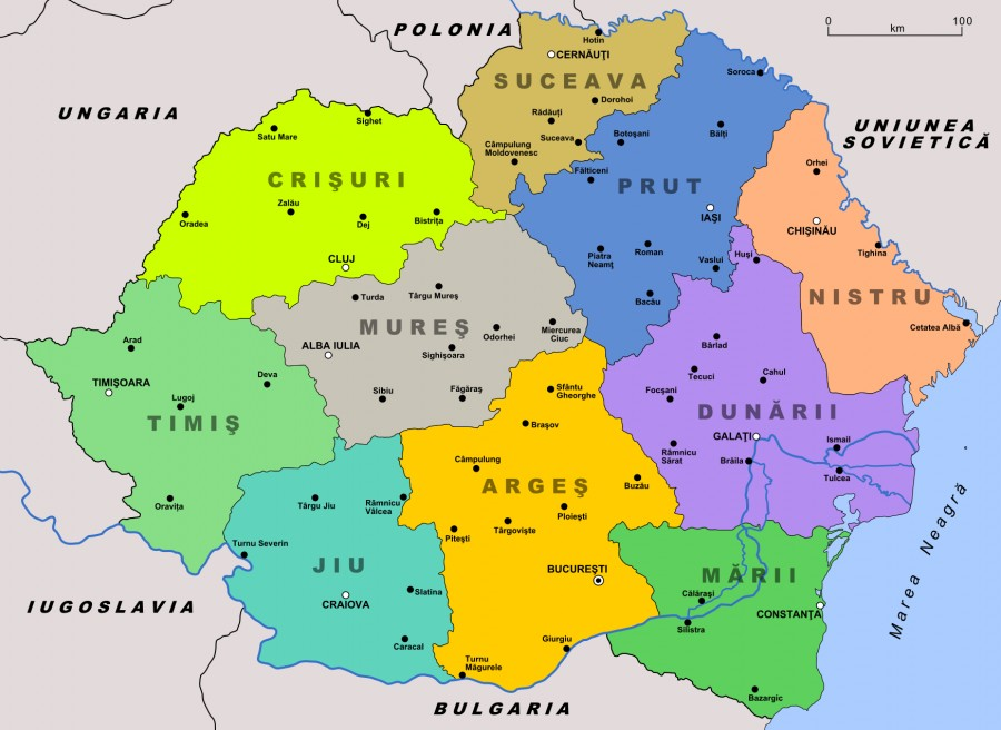 Impărţirea Administrativ Teritorială A Romaniei In Perioada 1938