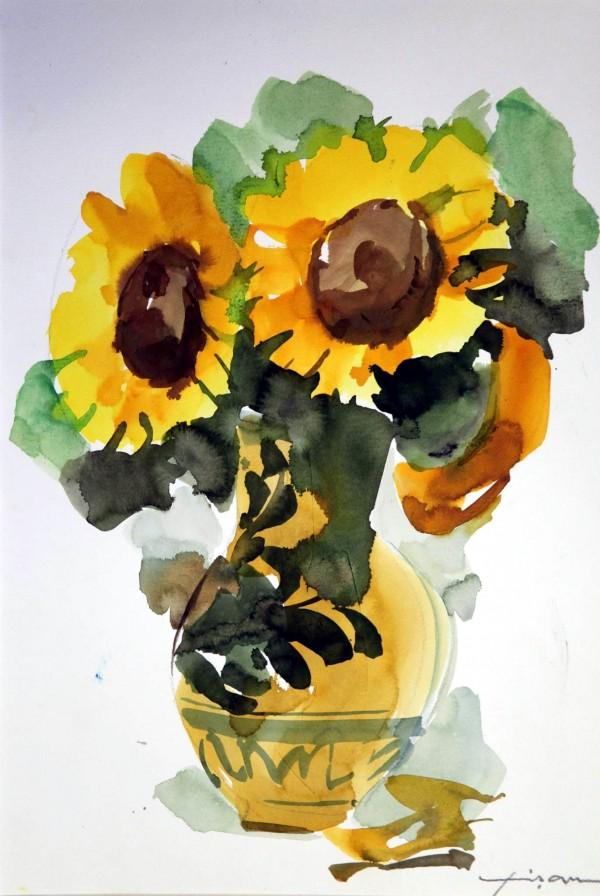 """Teodor Vişan – un artist inventiv: """"Floarea soarelui"""" cu doar 10 lei"""